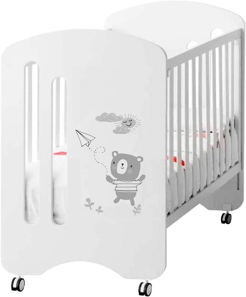 Cuna de bebe Babify Little Bear - 8 posiciones de somier - Lateral abatible