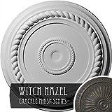 Ekena Millwork CM18ALWHC Alexandria Rope Ceiling Medallion, Witch Hazel Crackle