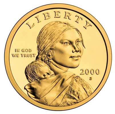 2000 S Sacagawea Golden Dollar $1 Proof - Dollar Coin
