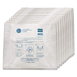Hoover Company AH10363 2479325 Hepa Bags for Hushtone Canister (Pack of 10)