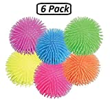 Puffer Balls – 6 Pack Assorted Colors, Blue, Green, Orange, Yellow, Pink And Purple, For Kids Sensory Stress Relief, Therapy Toy Favor, Goody Bag Filler, – By Kidsco