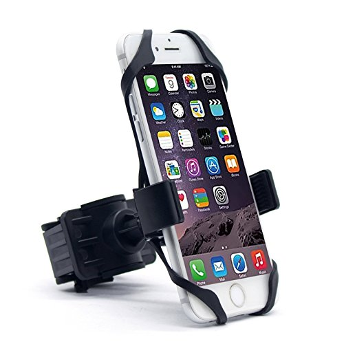 Bike Phone Mount, 360° Adjustable Motorcycle/Bike Handlebar Universal Smartphone Mount Time/Map/Music/GPS Navigation for iPhone X 8 7 6 5 Plus Samsung S9 S8 S7 S7 S6 S5