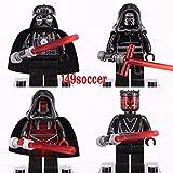 JSM 4PCS set Star Wars MiniFigures Darth Vader Revan Maul Rylo Ken Custom LEGO