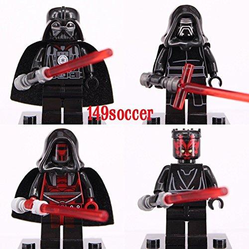 [JSM 4PCS set Star Wars MiniFigures Darth Vader Revan Maul Rylo Ken Custom LEGO] (Sauron Costumes)