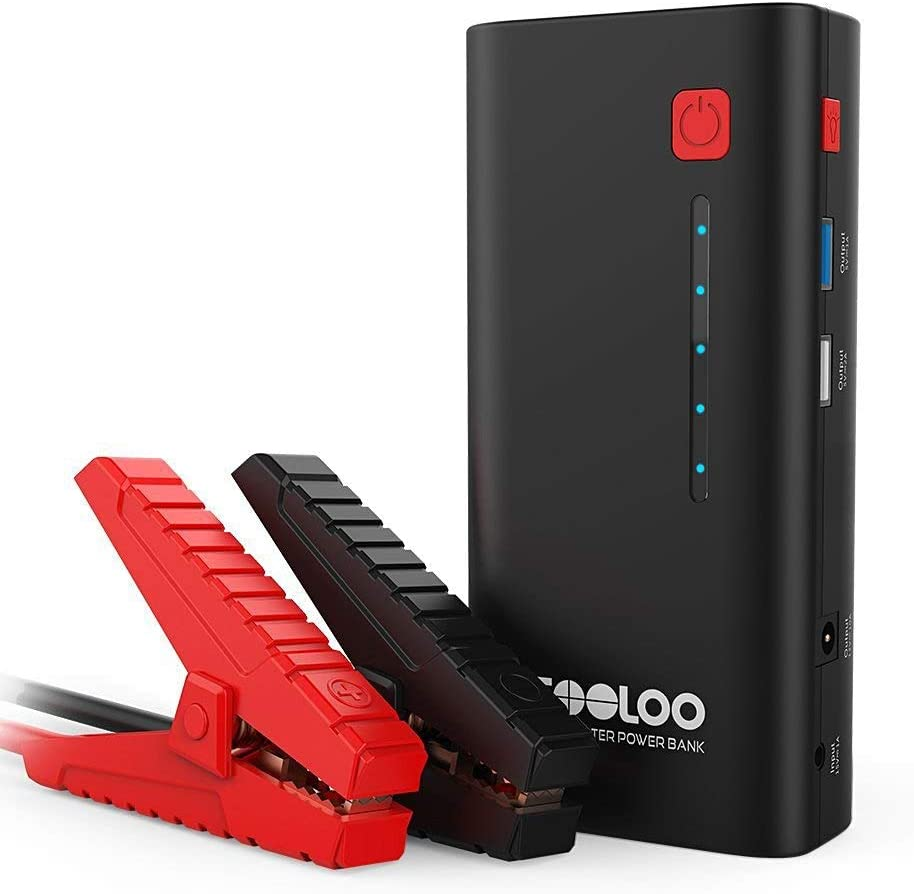 Best Car Battery Charger GOOLOO 800A Peak 18000mAh SuperSafe Car Jump Starter