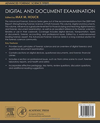 Digital and Document Examination (Advanced Forensic Science Series) by Academic Press