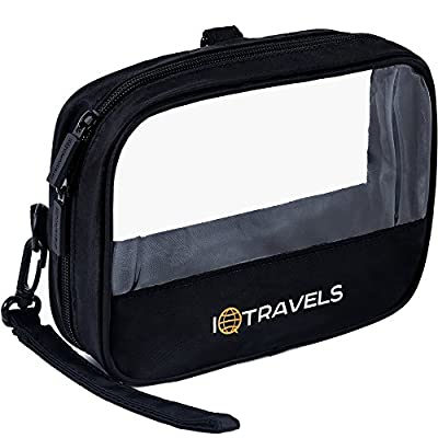 Toiletry Bag - Tsa Approved Toiletry bag - Mens Toiletry Bag - Small Travel Toiletry bag - Clear Toiletry Bag For Women - Airline Approved Toiletry Bag For Ladies - Waterproof Shaving Bag For Men