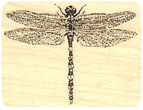 Realistic Dragonfly Rubber Stamp