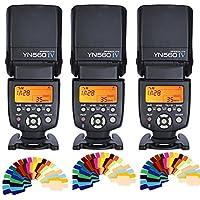 Yongnuo YN560 IV 2.4G Wireless Flash Speedlite 3pcs+Color filters for Canon Nikon Olympus Sony Pentax