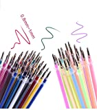 WaiiMak Gel Pens 48 Unique Colors Set for Adult Coloring Books Drawing with Case