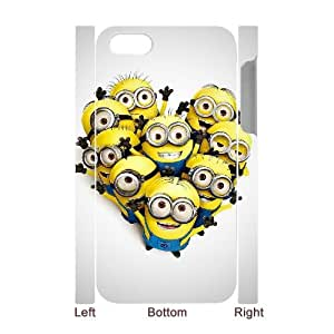 Customized Protective Hard 3D Plastic Case for Iphone 4,4S - Cute Minions personalized 3D case at CHXTT-C