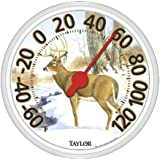 "Taylor 13-1/2"" Dial Deer Thermometer, Large"