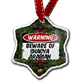Christmas Ornament Beware of the Shagya Arabian, Horse - Neonblond