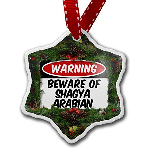 Christmas Ornament Beware of the Shagya Arabian, Horse - Neonblond by NEONBLOND