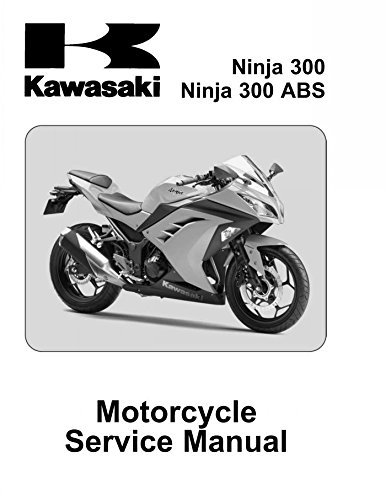 amazon com kawasaki ninja 300 abs 2013 2014 service manual cd rh amazon com Ninja Healing Techniques Ninja Techniques