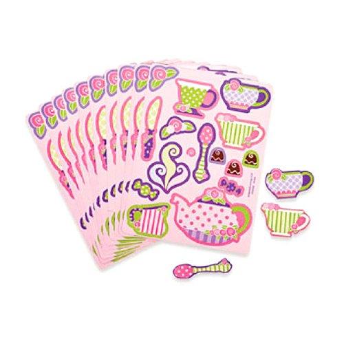 Fun Express Girly Tea Party Sticker Sheets (2 Dozen) Toy