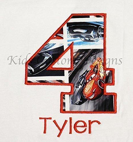 Amazon NEW Cars 3 Lightning McQueen Jackson Storm Birthday Shirt Top Racing Cruz Martinez AGES 1 7 Handmade