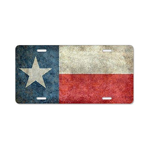 CafePress - Texas State Flag Vintage Re - Aluminum License Plate, Front License Plate, Vanity Tag ()