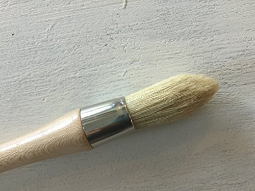 chalkology Artisan Series – Professional Chalk Paint Wax Brush | Painting or Waxing | Annie Sloan Dark & Clear Soft Wax | Furniture, Stencils, Folkart, Home Decor,