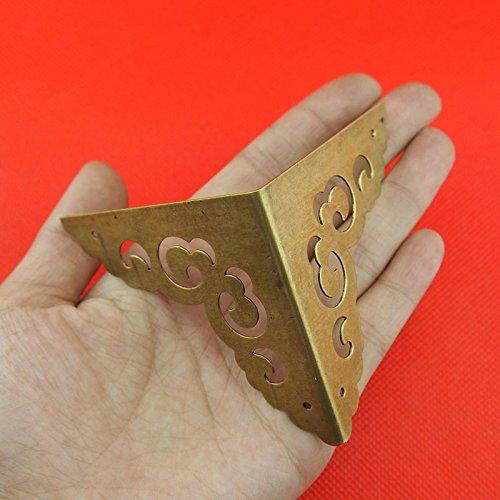 ChenXi Shop - Caja de 4 esquinas para decoració n de muebles, triá ngulo, ratá n tallado triángulo ratán tallado