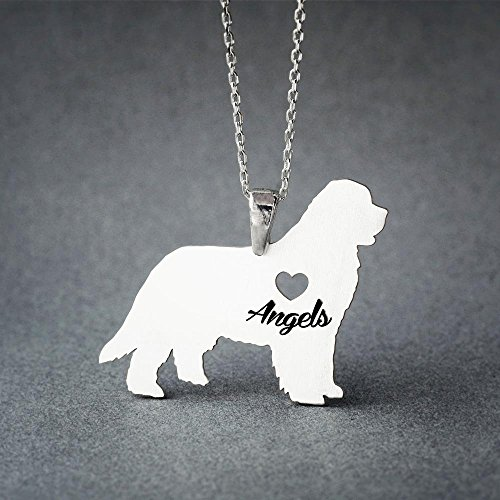 Personalised Newfoundland Dog Necklace - Newfoundland Dog Name Jewelry - Dog Jewelry - Dog breed Necklace - Dog Necklaces