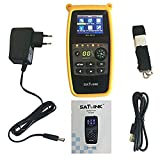 SATLINK WS-6933 DVB-S2 FTA C&KU Band Digital Satellite Meter Finder with Compass