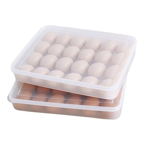 JUNGEN 1.5L Cajas de almacenaje del refrigerador Caja de almacenaje de huevo