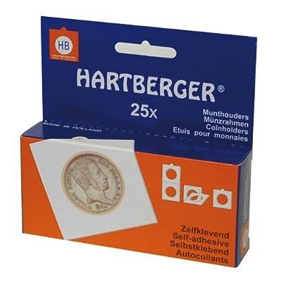 Etuis numismatiques carton (50x50) autocollants, paquet de 25 [Lindner 8320 325] - pour les pièces jusqu'à Ø: 32,5 mm