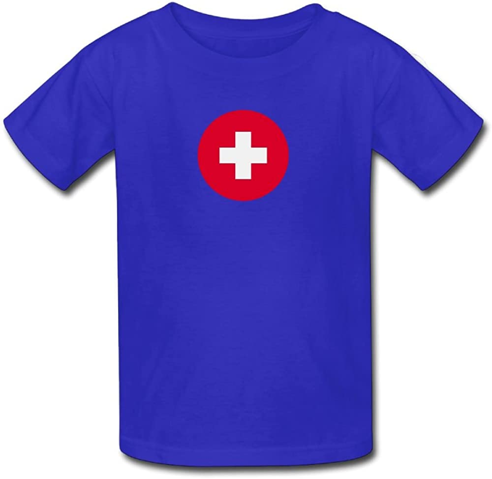 ODLS7 Kids Fashion Switzerland T-Shirt Little Boys Girls T Shirt for Toddler Casual Short Sleeve Cool Funny Top Tees