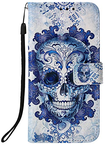 Aiyze Compatible with LG V50 ThinQ Case, LG V50 Case, 3D Leather Wallet Heavy Duty Full Body Protective Phone Cover Credit Card Slot Magnetic Closure Kickstand Accessories Cloud Ghost (Best Nexus 5 Covers India)