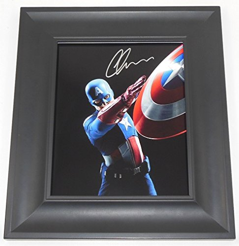 Captain America The First Avenger Chris Evans Signed Autographed 8x10 Glossy Photo Gallery Framed Loa