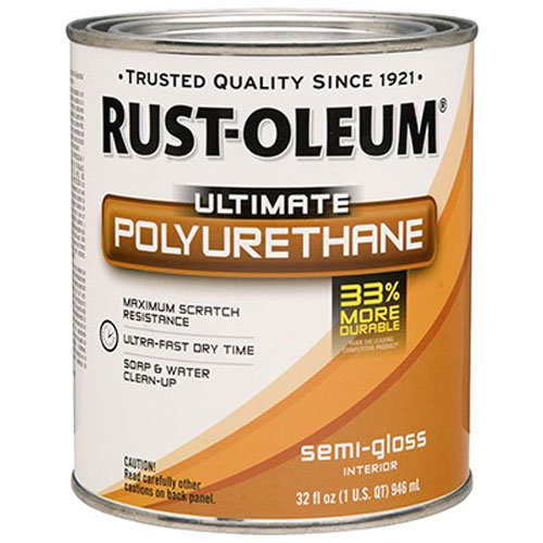 Rust-Oleum 260164 Ultimate Polyurethane, Quart, Semi-Gloss
