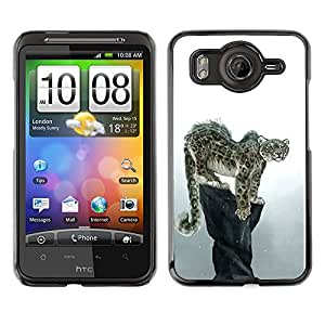 Exotic-Star Snap On Hard Protective Case For HTC Desire HD / Inspire 4G ( Cool Snow Leopard )