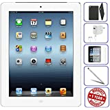 Apple iPad 2 Tablet 16GB, 32GB, 64GB - Wifi, Black 2nd Generation | Bundle Includes: Case, Tempered Glass, Stylus Pen, 1 Year Warranty (16GB, White) (Refurbished)