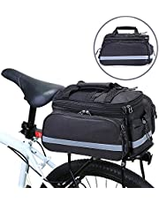 rain cover Bike Rear Seat Trunk Rack Pack Bag Bicycle Cycling Double Pannier