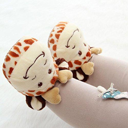 Kinder Schuhe Junge Erwärmung Kleinkind Haushalt Mädchen Cartoon Ohren Orange Animail Baby weiche große Design IGEMY OAUqtPxdOw
