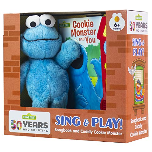 Sesame Street - Cookie Monster and You - Music Sound Book and Cookie Monster Plush - PI Kids (Sound Plush)