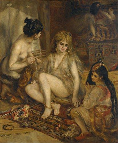 Costumes Parisien (Pierre Auguste Renoir - Parisiennes in Algerian Costume or Harem - Extra Large - Archival Matte - Brown Frame)