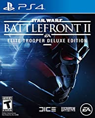 The Star Wars Battlefront II: Elite Trooper Deluxe Edition turns your troopers into the ultimate opponents. Every trooper class (Officer, Assault, Heavy, and Specialist) is upgraded, delivering superior firepower, deadly weapon modifications...