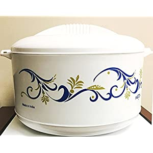 Milton Cuisine Big Party Size Hot Pot Insulated Casserole Keeps Warm/Cold Upto 4-6 Hours, Food Grade Virgin Plastic with Stainless Steel Inner, (17 Liter)