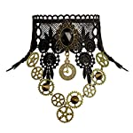 Zivyes Steampunk Accessories for Women Victorian Costume Gothic Lolita Choker Necklace Bracelet Earrings 7