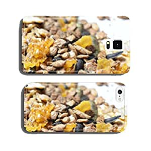 natural grain sportive muesli background. for horse. macro cell phone cover case Samsung S6