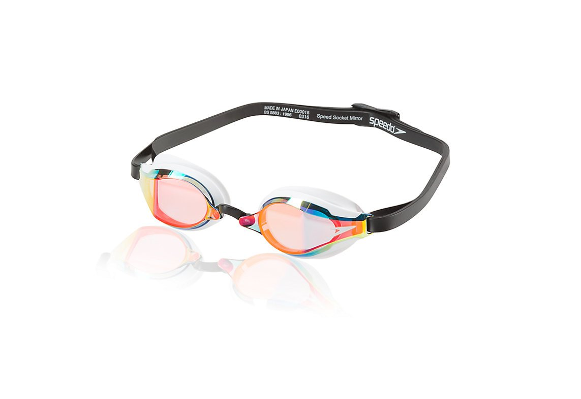 Speedo Adult Swim Goggles- Speed Socket 2.0 Mirrored, Deep Gold, 1SZ
