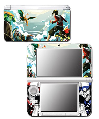Mt Silver Red Special Edition Blue Pikachu Charizard Blastoise Video Game Vinyl Decal Skin Sticker Cover for Original Nintendo 3DS XL System -