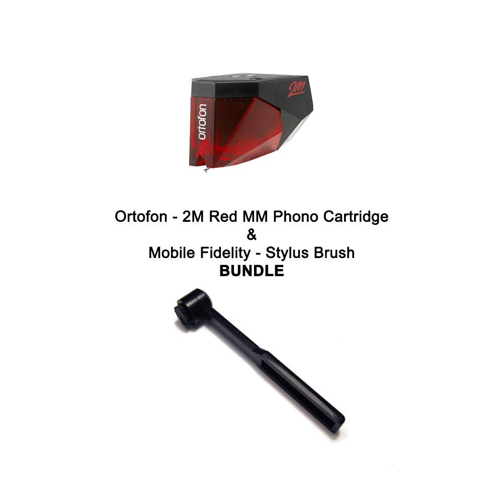 Ortofon - 2M Red MM Phono Cartridge & Mobile Fidelity - Stylus Brush BUNDLE