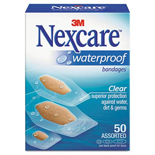 Nexcare - 9324 Waterproof Bandage, Assorted Size, Clear (packaging would possibly range)