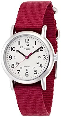 "Timex Women's ""Weekender"" Slip Through Strap Solid Color Watch"
