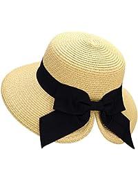 887a4c935e9 Women s Lightweight Foldable Packable Beach Sun Hat w Decorative Bow