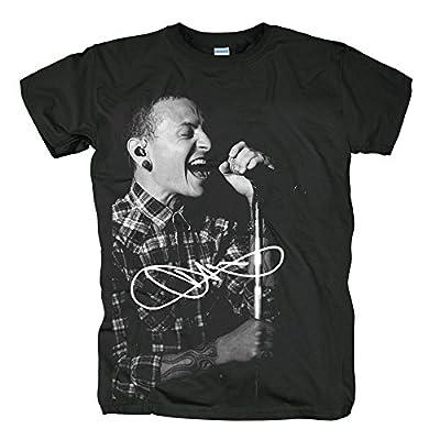 Zombiepanda Music Band Fans Rip Chester Bennington Black Cotton Short Sleeve T Shirt
