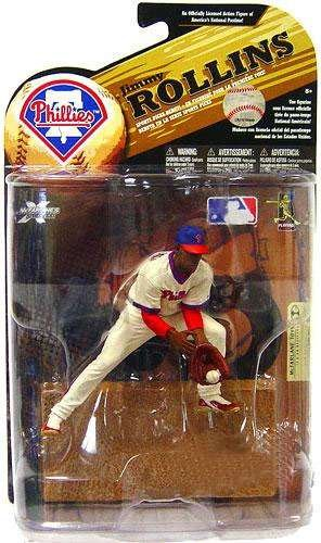 McFarlane Toys MLB Sports Picks Series 24 (2009 Wave 1) Exclusive Action Figure Jimmy Rollins (Philadelphia Phillies) Throwback Uniform and Blue (Throwback Uniform)